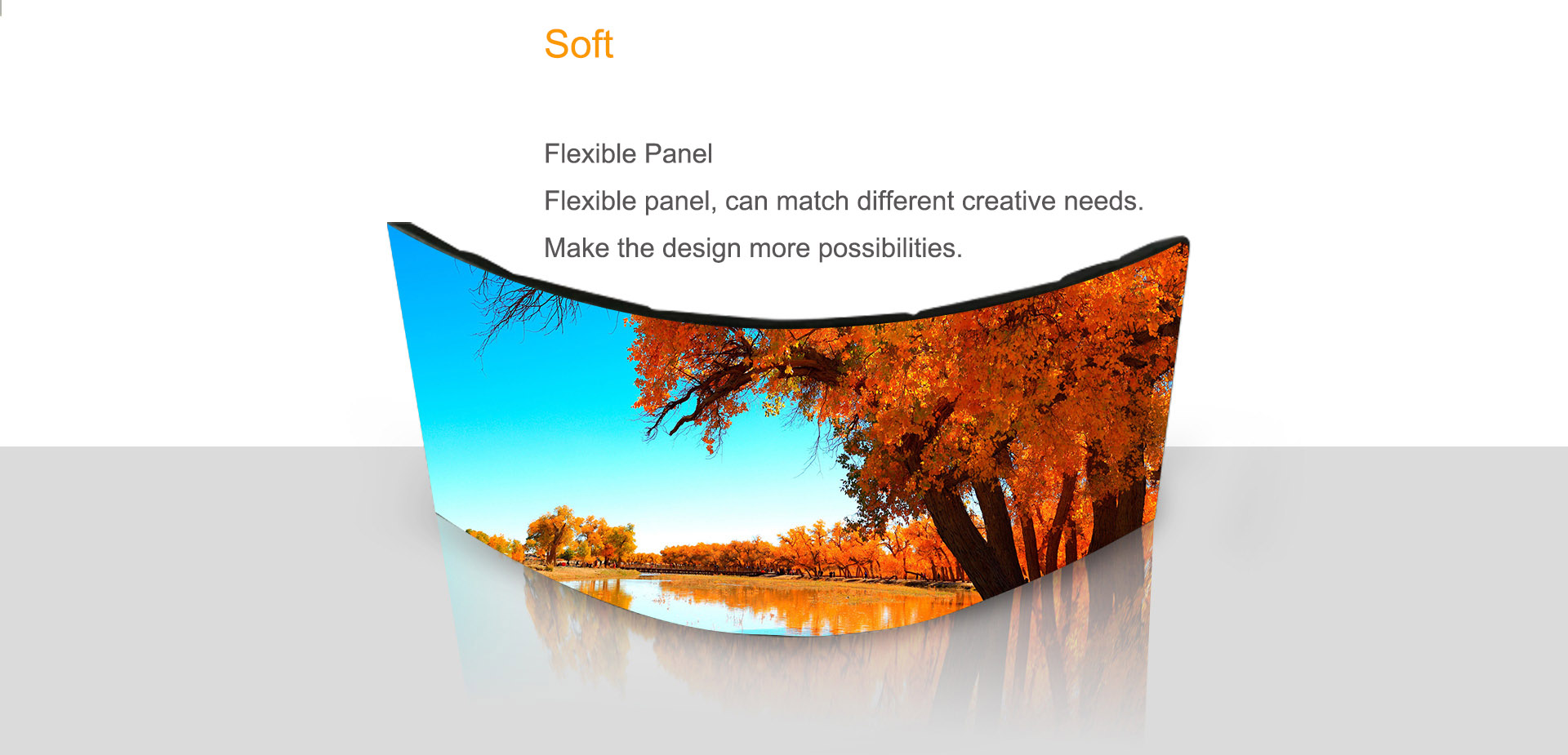 SoStron soft screen make different shape for retial stores