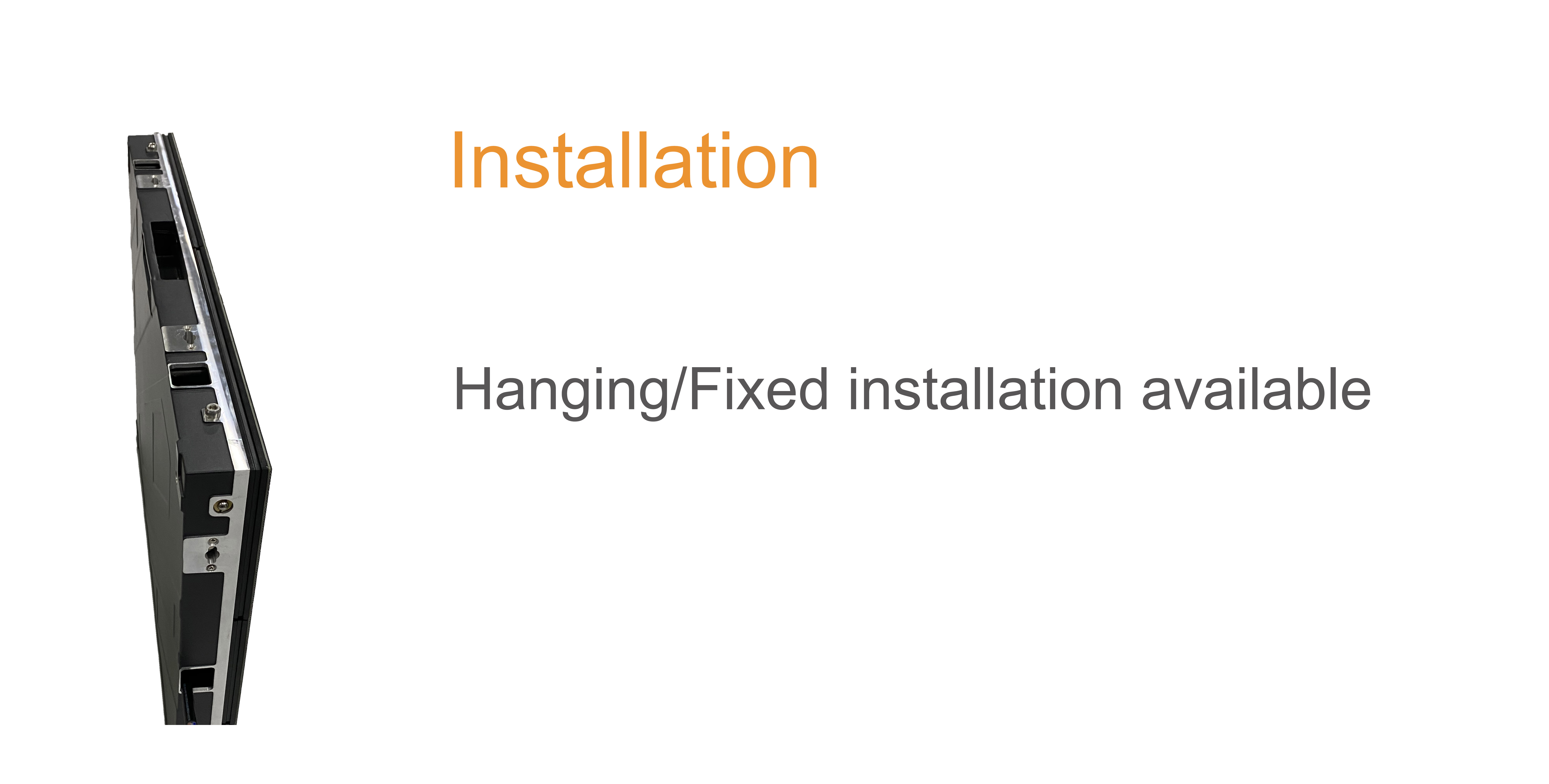 installation hanging fixed